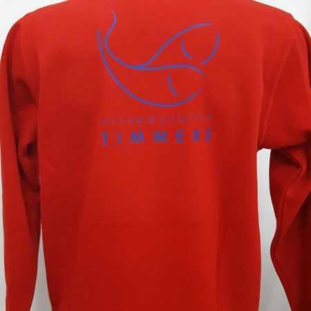 Rode trui bedrukt met logo