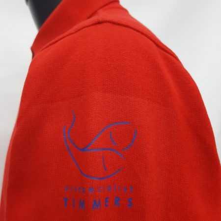 Bedrukte polo rood met logo