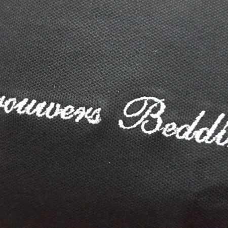 Borduring logo op textiel
