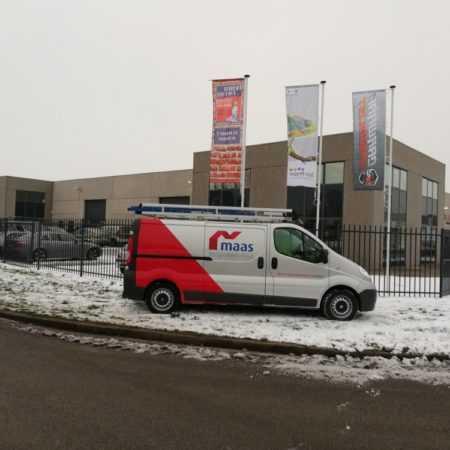 Maas schilderwerken Bus belettering